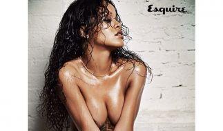 Schon wieder ziemlich nackt: Rihanna. (Foto)