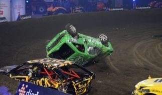 TV total Stock Car Crash Challenge 2014, 6. November: Beim Live-Event auf Pro7 kommt es vor allem auf eines an - wer legt den anderen am schnellsten aufs Kreuz? (Foto)