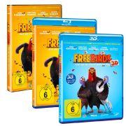 Die 3D-Blu-ray, Blu-ray und DVD zu Free Birds sind seit dem 31. Oktober 2014 im Handel erhältlich.