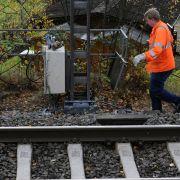 Brandanschlag! Bahn-Chaos im Norden (Foto)