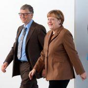 Bill Gates bei Merkel: Vorsorge in armen Ländern schützt auch uns (Foto)