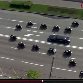 Hier rollt Wladimir Putins Penis-Eskorte (Foto)