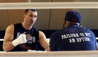 Wladimir Klitschko will am 15.11.2014 im Kampf gegen Kubrat Pulev erneut seine WM-Titel verteidigen. (Foto)