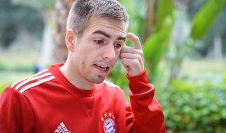 Philipp Lahm brach heute plötzlich das Training ab. Was fehlt dem Fußballer? (Foto)