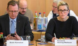Rot-rot-grüne Verhandlungen in Thüringen vor dem Abschluss (Foto)