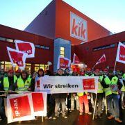 Streik beim Textil-Discounter KiK wird fortgesetzt (Foto)