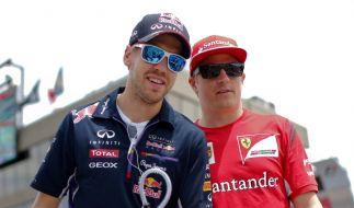 Ferraris Fahrergespann für die Formel 1 2015: Sebastian Vettel (links) und Kimi Räikkönen. (Foto)