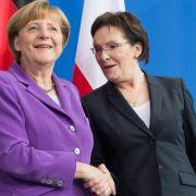 Merkel verteidigt in Polen Dialog mit Russland (Foto)