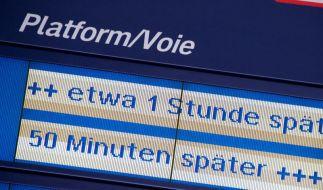 Bahn-Verspätungen im Fernverkehr nehmen deutlich zu. (Foto)