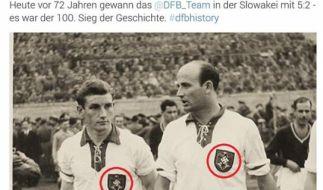 DFB twittert Hakenkreuze. (Foto)