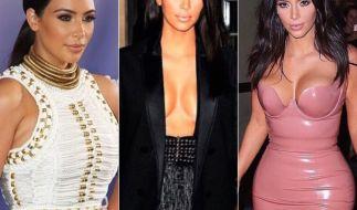 Von allem zu viel: Kim Kardashians Look kommt bei Modexperten alles andere als gut weg. (Foto)
