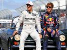 Hier fuhren Michael Schumacher und Sebastian Vettel noch gemeinsam in der Formel 1. Trotz der Konkurrenz blieben sie gute Freunde. (Foto)