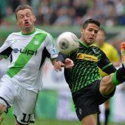 Wolfsburg mit Personalproblemen ins Spitzenspiel gegen Gladbach (Foto)