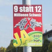 Zuwanderung, Gold und Steuerprivileg: Schweizer stimmen ab (Foto)