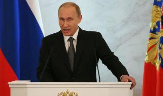 Putin: Werden uns «Unterwerfungspolitik» nicht beugen (Foto)