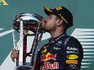 Mit Red Bull feierte Sebastian Vettel seine größten Formel-1-Rekorde. Nun wurden zahlreiche Pokale gestohlen. (Foto)