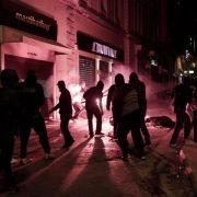 Schüler-Randale in Athen (Foto)