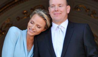Glückliche Eltern: Charlène und Albert von Monaco sind am Mittwoch Eltern geworden. (Foto)