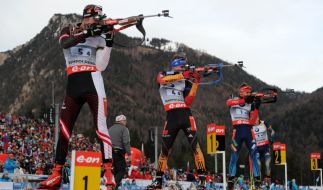 In Hochfilzen gehen die deutschen Biathleten in das nächste Weltcup-Wochenende. (Foto)