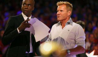 Die Supertalent-Juroren Dieter Bohlen und Bruce Darnell überlassen die Entscheidung im Finale den TV-Zuschauern. (Foto)