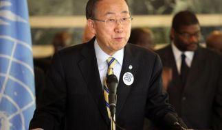 UN-Chef Ban sieht Grund zu Optimismus im Kampf gegen Ebola (Foto)