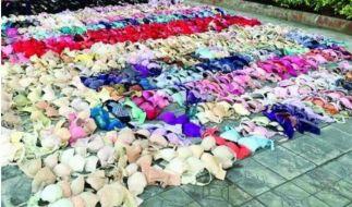 Dieses Arsenal an Unterwäsche stellte die chinesische Polizei sicher. (Foto)