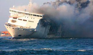 Auf der Adria-Fähre «Norman Atlantic» ist in der Nacht ein Feuer ausgebrochen. (Symbolbild) (Foto)
