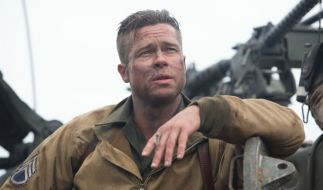 Brad Pitt als Don «Wardaddy» Collier ist der Anführer der fünfköpfigen Panzertruppe. (Foto)