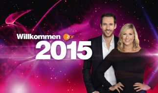 Andrea Kiewel und Alexander Mazza begrüßen in Willkommen 2015 das neue Jahr live im ZDF vom Brandenburger Tor in Berlin. (Foto)