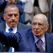 Italiens Staatspräsident kündigt Rücktritt an (Foto)