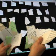 Rekonstruktion von Stasi-Unterlagen per Computer schwierig (Foto)