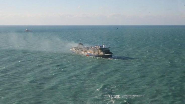 Wrack der «Norman Atlantic» vor italienischem Hafen (Foto)