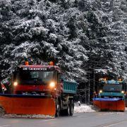 Schnee, Sturm, Glätte prägen erstes Wochenende 2015 (Foto)