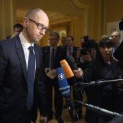 Jazenjuk wirbt in Deutschland um Unterstützung für Ukraine (Foto)