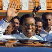 Überraschung in Sri Lanka: Herausforderer gewinnt Wahl (Foto)