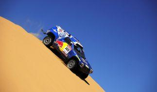 Der südafrikanische Rallye-Pilot Giniel de Villiers und sein deutscher Beifahrer Dirk von Zitzewitz hoffen 2015 auf einen Sieg. (Foto)