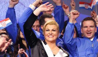 Erstmals Frau an der Spitze Kroatiens (Foto)