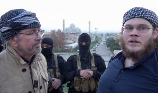 Jürgen Todenhöfer (l.) sprach im irakischen Mossul mit Christian Emde (r.). (Foto)