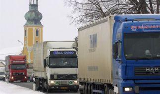 Bund: Mindestlohn gilt auch für EU-Lkw-Fahrer (Foto)