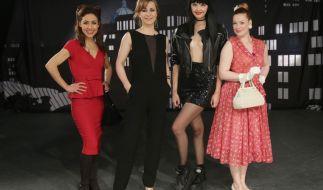 V.l.: Anastasia Zampounidis, Bettina Cramer, Bonnie Strange, Enie van de Meiklokjes. (Foto)