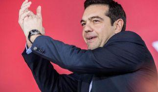 Die Linkspartei von Alexis Tsipras geht als Favorit in die griechischen Parlamentswahlen am Sonntag. (Foto)