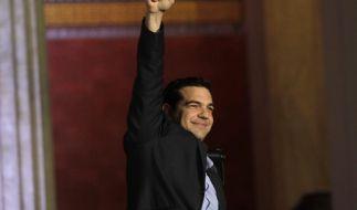 Noch in der Wahlnacht signalisierte Tsipras den EU-Partnern Gesprächsbereitschaft für eine «gerechte und praktikable Lösung». (Foto)