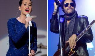 Die Halbzeit-Show mit Katy Perry und Lenny Kravitz zählt zu den Highlights des Super Bowls 2015. (Foto)