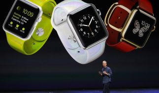 Apple-CEO Tim Cook stellte die neue Apple Watch am 9. September 2014 in Cupertino erstmals vor. (Foto)