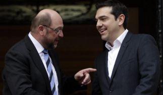 Schulz rät Athen zu Stopp von Attacken gegen Merkel (Foto)
