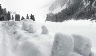 Lawinen töten 13 Wintersportler in Europa (Foto)