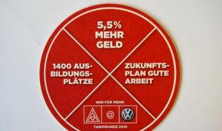 Verhandlungen über VW-Haustarifrunde vertagt (Foto)
