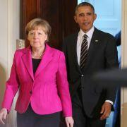Obama und Merkel machenvor Vierergipfel Druck auf Putin (Foto)