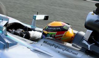 Hat Mercedes Michael Schumacher aufgegeben? Der Schiftzug ist an dieser Stelle nicht mehr zu finden. (Foto)
