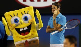 Auch Tennis-Star Roger Federer ist Spongebob-Fan. (Foto)